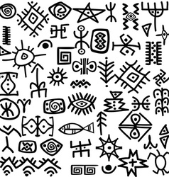 Ancient symbols set vector image