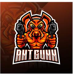 ant gunner esport mascot logo vector image