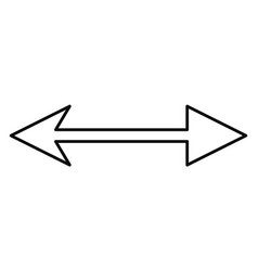 Arrows pointing both ways on white background vector
