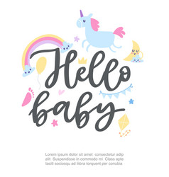 baboy showel and happy birthday poster vector image