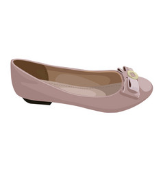 ballet flats in dusty pink color profile view vector image