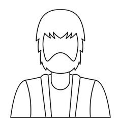 Bearded man icon outline style vector image