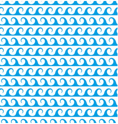 blue waves lines seamless greek pattern vector image