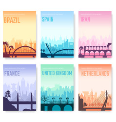 bridge of brazil spain iran france england vector image