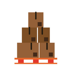 cardboard boxes icon image vector image