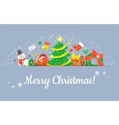 Christmas Symbols Background Horizontal Header vector image