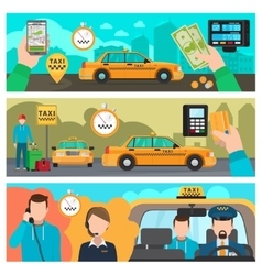 City taxi transportation service banners vector image