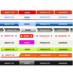Classical web navigation bar set vector
