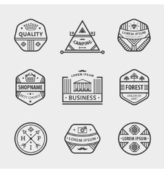 collection monochrome hipster vintage vector image