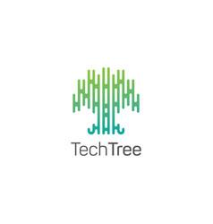 creative tree logo designabstract tree icon vector image
