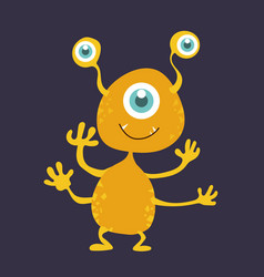 Cute monster cartoon character 005 vector