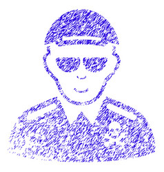 deadly officer icon grunge watermark vector image