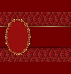 Decorative background with golden frame vector