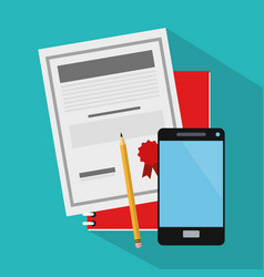 Document and smartphone vector