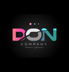 don d o n three letter logo icon design vector image