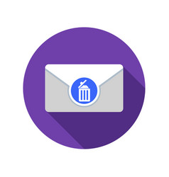 Draft mail icon email icon with long shadow vector