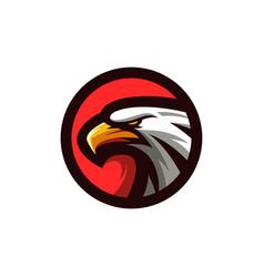 eagle logo design vector image