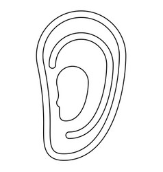 Ear the black color icon vector