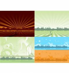 ecological city backgrounds vector image vector image