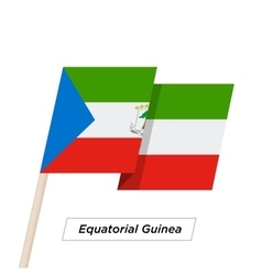 Equatorial Guinea Ribbon Waving Flag Isolated on vector image