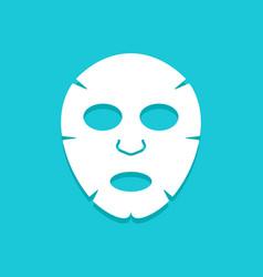 Facial mask flat icon design face health care vector