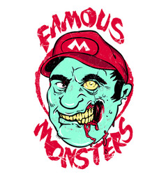 Famous monsters vector