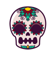 Flower pattern on the skull vector