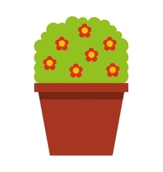 garden pot with plant vector image