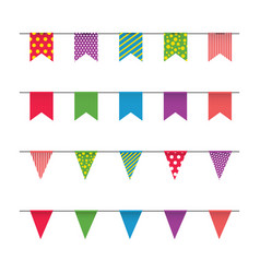 Garland with colorful flags carnival or fair vector