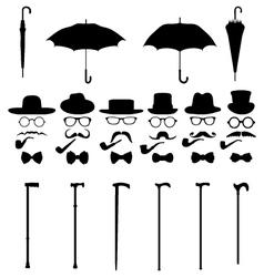 Gentleman icon set 2 vector