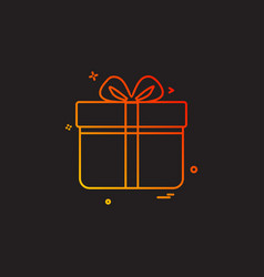 Giftbox icon design vector