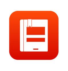 globe icon digital red vector image