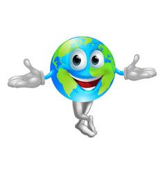 globe world mascot man vector image