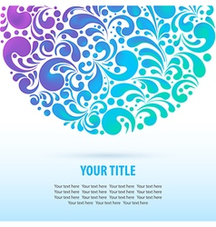 Glowing colorful background vector