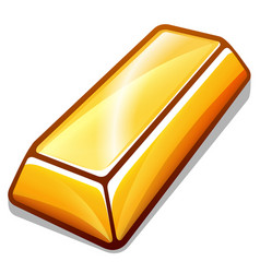 gold bar design isolated vector image