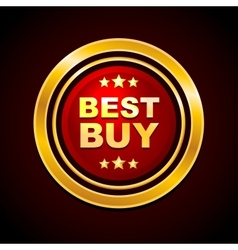 Gold Label Best Buy vector image