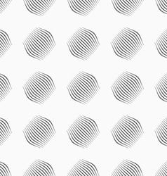 Gray ornament diagonal bulging small shapes vector