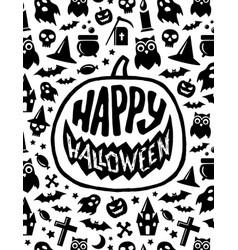 Happy halloween banner scary design vector