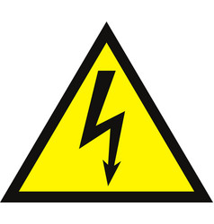 high voltage sign danger symbol black arrow vector image