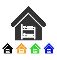 Hostel icon vector
