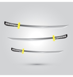 Japanese sword ninja weapon vector image