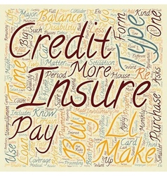 Learn What Credit Insurance Can Do For You text vector