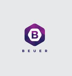 letter b logo on white background vector image