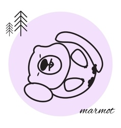 mammon thin line icon vector image