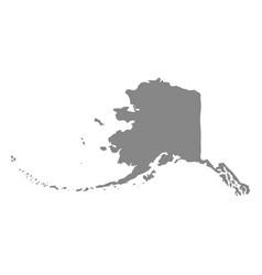 Map us state alaska vector