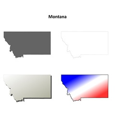 Montana outline map set vector