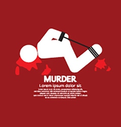 Murder Victim By Hands And Feet Tied vector image