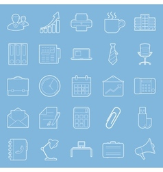 Office and marketing thin lines icons set vector image