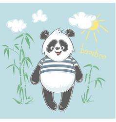 panda bear animal print vector image