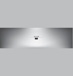 panoramic grey gradient background vector image